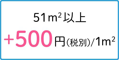 51m2以上+500円(税別)/1m2